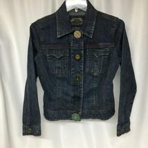 Cabi Denim Jacket Womens XS Blue Jeans Trucker Snap Front Flap Pocket - $24.19