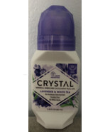 Crystal Mineral Deodorant Roll-On, Lavender & White Tea 2.25 oz. New - $7.55