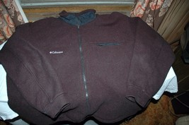 Columbia Mens jacket size 2 x large fleece full zip front with pockets black - $22.95