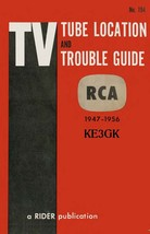 TV Tube Location and Trouble Guide * RCA * Rider Publication * CDROM * PDF - $8.99