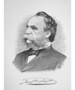 GEORGE H. SARGENT New York Hardware Manufacturer - 1895 Portrait Print - $8.82