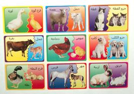Arabic Teaching Aid School Madrasa Children 36 Animal Mother Child Cub Stickers image 2