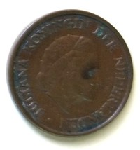 Netherlands 5 cent Coin km181 1957 - $0.50