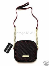 Steve Madden Womens Black/ Red Bailey Woven Crossbody Shoulder Bag Gold ... - $34.64