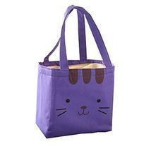 Lunch Boxes Insulated Lunch Bag With Lunch Packed Bag-Purple Kitten - $17.62 CAD