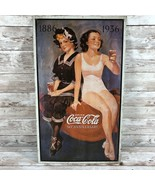 1993 Coca-cola 50th Anniversary Metal Sign Pinup Girls - $12.42