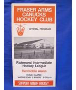 1973 74 Fraser Arms Canucks Hockey Club and UBC Braves Program Collector  - $5.99
