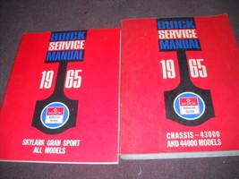 1965 Buick Gran Sport Shop Repair Service Manual Set W Supplement Book Oem - $168.24