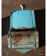 Antique Hanging Wooden Match Box Holder Lot # 163 - $45.00