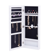 Wall Mounted Mirrored Storage Jewelry Cabinet - $85.56