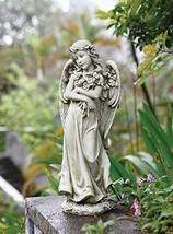 "Joseph Studio 19.75""H Angel Hugging a Bouquet of Flowers Garden Statue - $98.21"