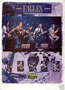 TRACE ELLIOT AMPLIFIER AD EAGLES WORLD TOUR 1996