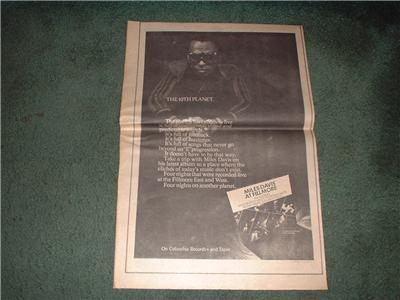 1970 MILES DAVIS AT FILLMORE POSTER TYPE AD
