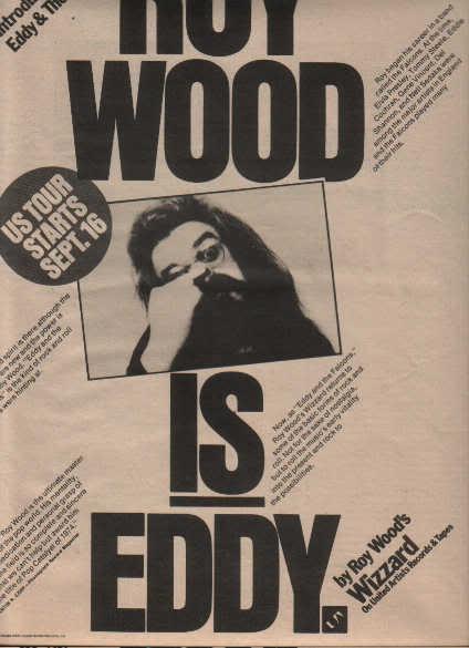 * 1974 ROY WOOD EDDY & THE FALCONS PROMO AD