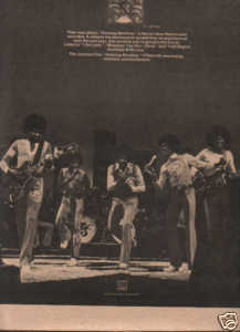 * 1974 MICHAEL JACKSON 5 FIVE POSTER TYPE AD