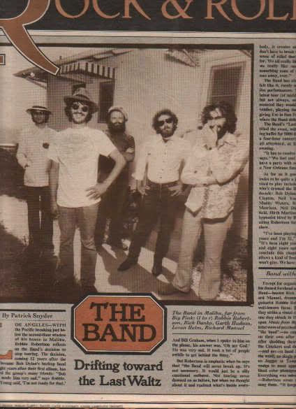 * 1976 THE BAND ARTICLE AD WRITE UP 4-PAGE