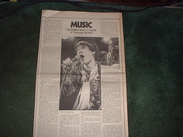 * 1973 THE ROLLING STONES ARTICLE AD WRITE UP