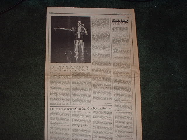 * 1973 DAVID BOWIE ARTICLE AD WRITE UP-1 PAGE