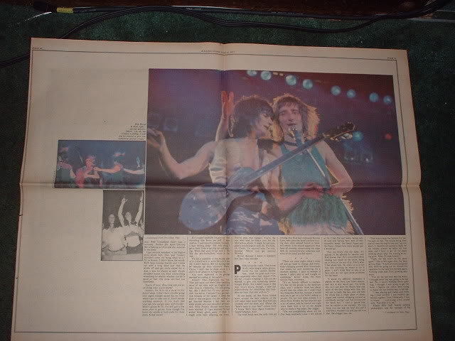 * 1973 ROD STEWART ARTICLE AD WRITE UP-4 PAGE