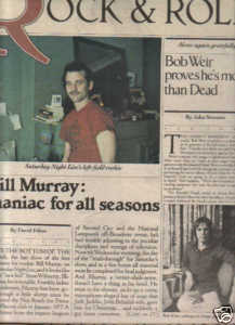 * 1978 BILL MURRAY ARTICLE AD WRITE UP-5 PG