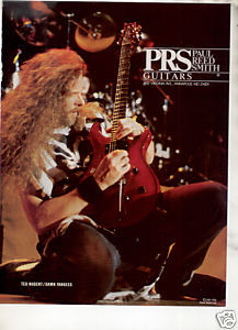 1991 TED NUGENT PRS GUITAR AD