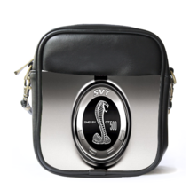 Sling Bag Leather Shoulder Bag Shelby Mustang Ford Cobra Logo Luxury Sports Car  - $14.00