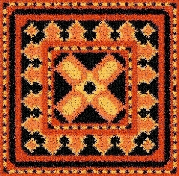 Latch Hook Rug Pattern Chart: SUNSHINE TILE - EMAIL2u