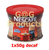 NESCAFE Decaf Instant Coffee 1x50gr + Worldwid... - $14.15