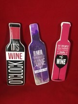 Wine Bottle Magnet Set Wine Lovers Red Wine Party Favor Gift Free Shippi... - $10.88