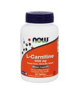 NOW Foods L-Carnitine 1000 mg., 50 Tablets - $24.15