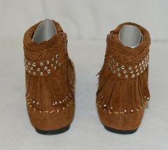 I Love Yo Kids AVA 78K Girls Fringe Boot Rust Silver Studded Size 13 image 4
