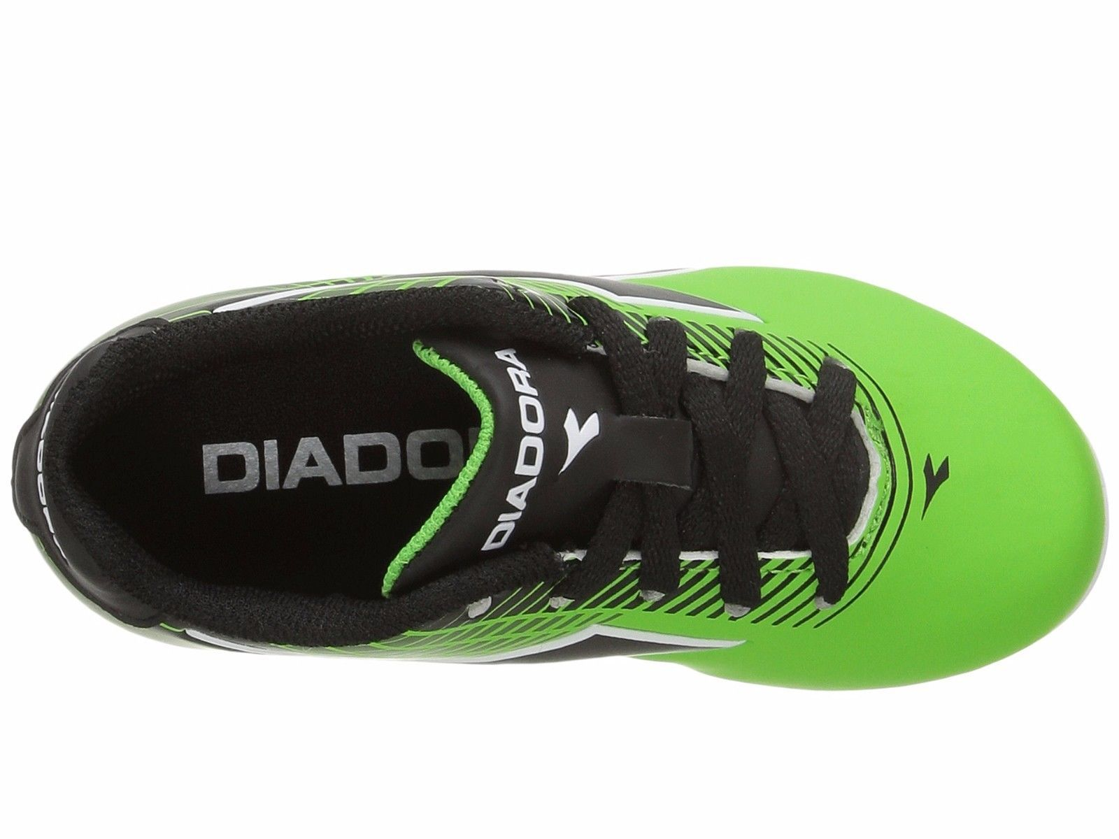 98a5be1619a Diadora Ladro MD JR Soccer Cleats Lime Green   Black Toddler Kids Youth  Sizes