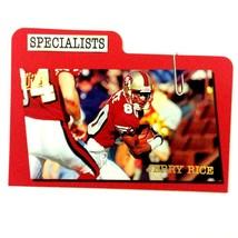 Jerry Rice 1997 Fleer Ultra Specialists Insert Card #14 NFL HOF 49ers  - $3.91