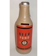 Beer Fund Bottle Bank gift orange brown Schurman Fathers Day gag H2 - $21.77