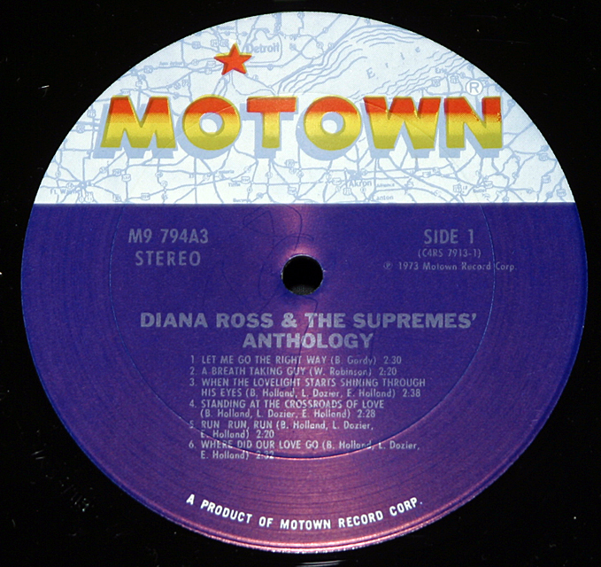"Diana Ross and the Supremes  ""Anthology""   Motown Records M9-794A3  LP"