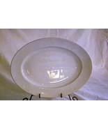 """Rosenthal White Velvet Oval Platter 12 3/4"""" Continental Line Gold Trim - $13.85"""