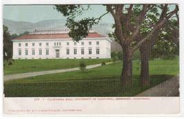 California Hall University California Berkeley 1905c postcard - $5.94