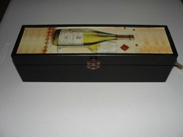 Decorative Wood Wine Carrying Case with Rope Handle - $6.49