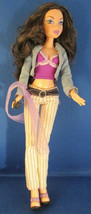 Mattel Brunette Doll with Cell Phone wearing Low Risers - $9.90