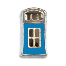 Blue Phone Booth Charm for Floating Locket (LCHM-157) - $0.99