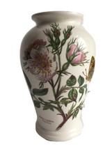 """Portmeirion Botanic Garden Vase 6 3/4"""" High Canton Dog Rose Rosa Cana   - $28.71"""
