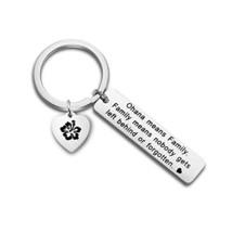 bobauna Hawaiian Ohana Means Family Hibiscus Keychain for Mom Sister Bes... - $14.62