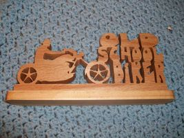 Old School Biker wood display - $25.00