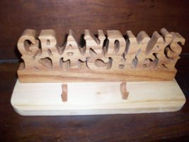 Grandmas Kitchen wooden display/pen holder - $29.00