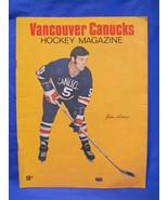 Vancouver Canucks Hockey Magazine John Arbour Vintage Collector Jan. 1970  - $9.95