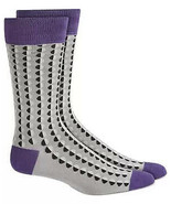 Mens Dress Socks Shaded Circle Dots Grey Alfani Alfatech 1 Pair $10 - NWT - $3.95