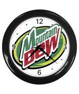 New Custom Black Wall Clock MOUNTAIN DEW - $16.50