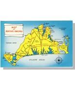 Martha's Vineyard, Mass/MA Postcard, Map, Cape Cod - $7.00