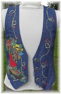 Christmas Boot Western Rail Halter Horse Show Vest M