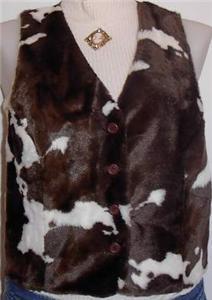 Cowpony Faux Fur Western Rail Halter Horse Show Vest L
